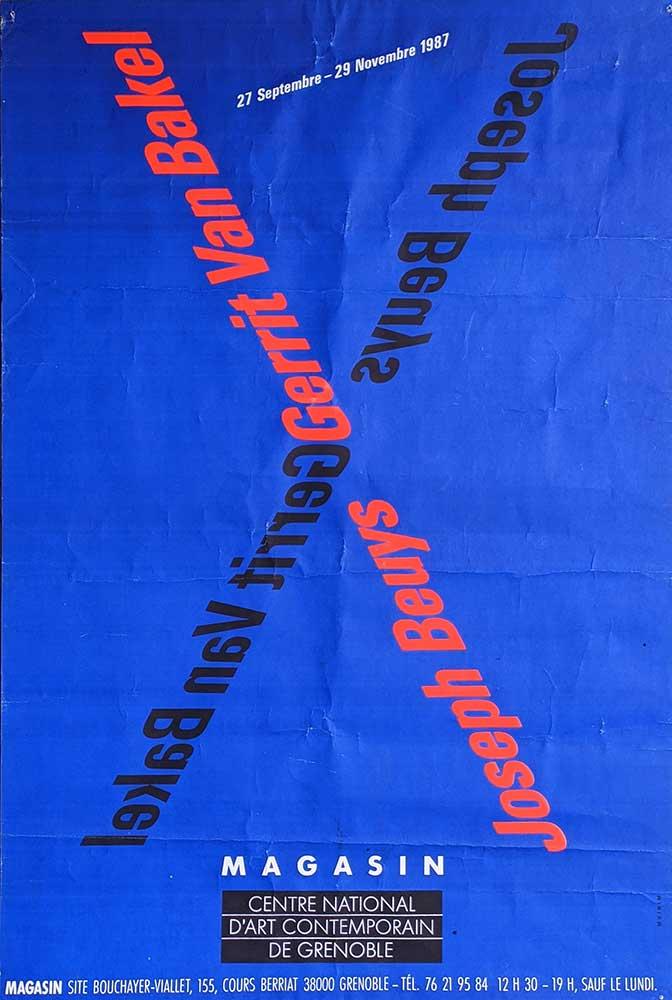 gerrit-van-bakel-poster-Joseph-Beuys-Magasin-Grenoble-1987